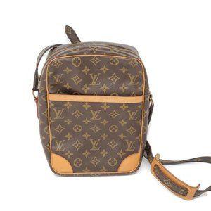 Auth Louis Vuitton Danube Monogram Crossbody Bag